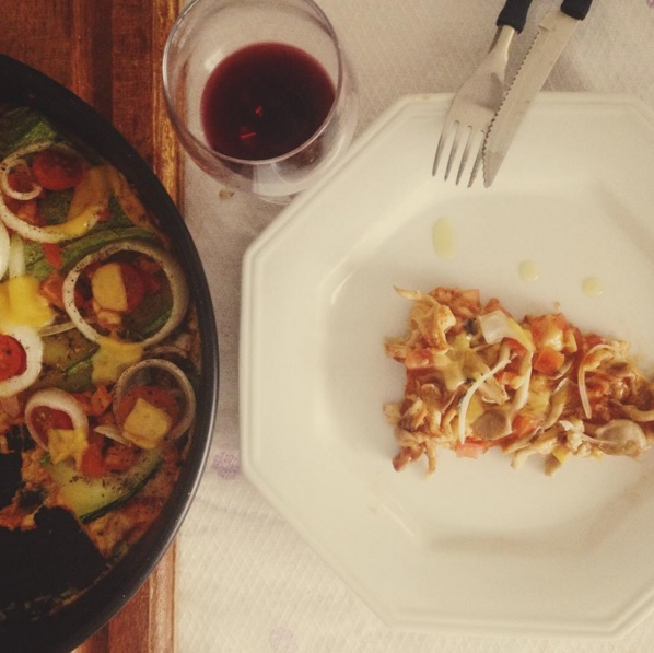 pizza de couve flor shimeji cogumelos vegan vegetariana receita