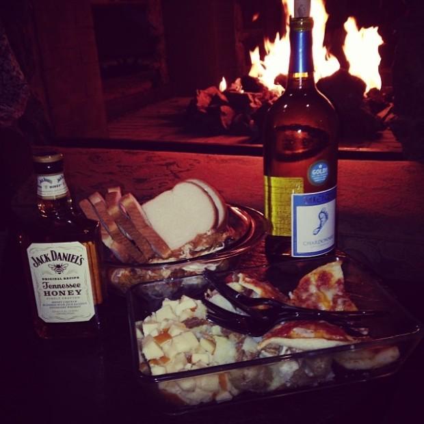 Fazendo uma farofada/jantar de Thanksgiving no hotel, em Mammoth Lakes